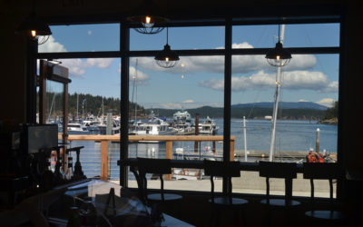 A Quick Sip of Riptide Cafe in Friday Harbor, Washington